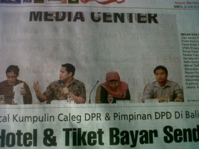 KPU media center 1_21 Juni 2013