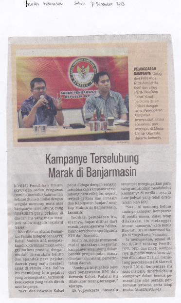 Media Indonesia (Sabtu, 7 Desember 2013)